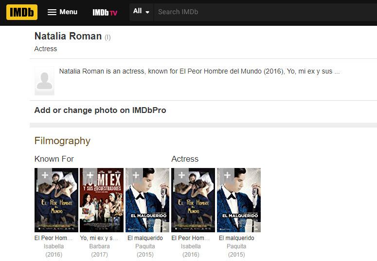 Nati Román está en IMDB